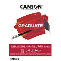 Olie Acrylblok Canson Graduate A3 290gr 20vel