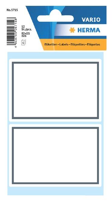 Etiket Herma 5715 53x80mm schrift grijs kader 12stuks