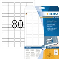 Etiket Herma 35.6x16.9mm verwijderbaar wit 2000stuks