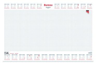 Bureau-onderlegblok 2022 Quantore ruit 56,5X36CM wit