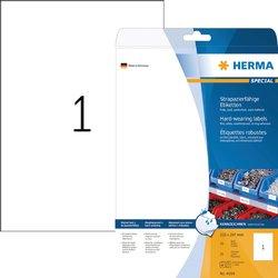 Etiket Herma 4698 210x297mm A4 wit 25stuks
