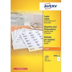 Etiket Avery DP001 210x297 wit 100stuks