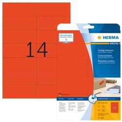 Etiket Herma 5059 105x42.3mm verwijderbaar rood 280stuks
