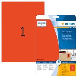 Etiket Herma 4422 210x297mm verwijderbaar A4 rood 20stuks