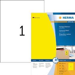 Etiket Herma 4401 210x297mm A4 geel 100stuks