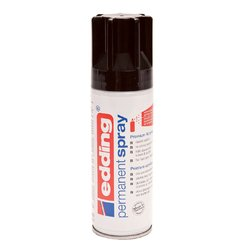 Verfspuitbus edding 5200 permanent spray mat diepzwart
