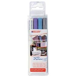 Viltstift edding 751 lakmarker rond assorti 1-2mm etui à 3st