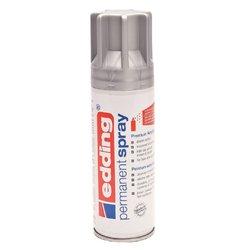 Verfspuitbus edding 5200 permanent spray mat zilver