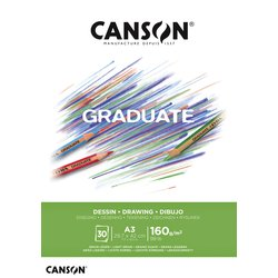 Tekenblok Canson Graduate Dessin A3 160gr 30vel