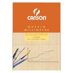 Millimeterblok Canson A4 lichtbruin