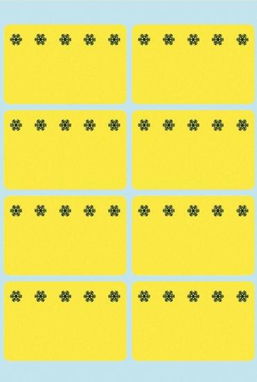 Etiket Herma 3771 26x40mm diepvries geel 48stuks