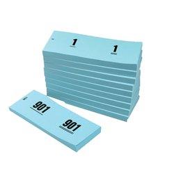 Nummerblok 42x105mm nummering 1-1000 blauw 10 st