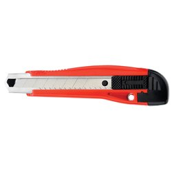 Snijmes Westcott Premium 18mm met metalen geleiding rood