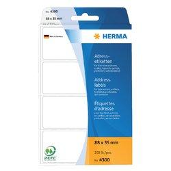 Etiket Herma adres 4300 88x35mm 250stuks zig-zag