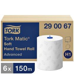 Handdoekrol Tork H1 290067 Advanced 2laags 6rollen wit