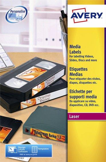 Etiket Avery L7666-25 70x52mm voor 3.5 inch disk 250stuks