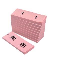 Nummerblok 42x105mm nummering 1-1000 roze 10 stuks