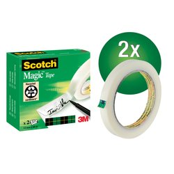 Plakband Scotch Magic 810 12mmx66m onzichtbaar mat