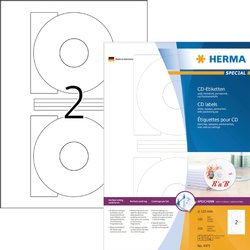 Etiket Herma 4471 CD 116mm wit opaqua 200stuks