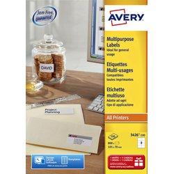 Etiket Avery L4745REV-25 96x63.5mm afneembaar wit 200stuks