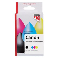 Inktcartridge Quantore Canon PGI-525+CLI-526 2zwart + 3kleur