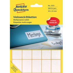 Etiket Avery Zweckform 3321 32x23Mm wit 560stuks