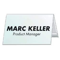 Tafelnaambord Durable 8051 52x100mm transparant