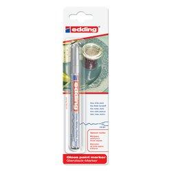 Viltstift edding 780 lakmarker rond zilver 0.8mm blister