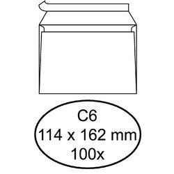 Envelop Quantore bank C6 114x162mm zelfklevend wit 100stuks