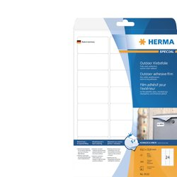 Etiket Herma 9532 63.5x33.9mm 240st folie wit