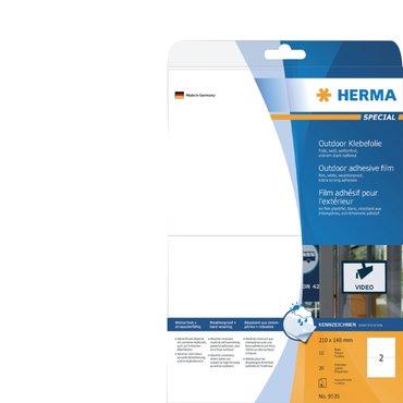 Etiket Herma 9535 A5 210x148mm 20st folie wit