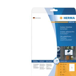 Etiket Herma 9500 A4 210x297mm 10st folie wit