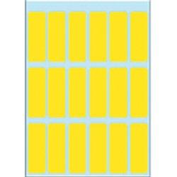 Etiket Herma 3651 12x34mm geel 90stuks
