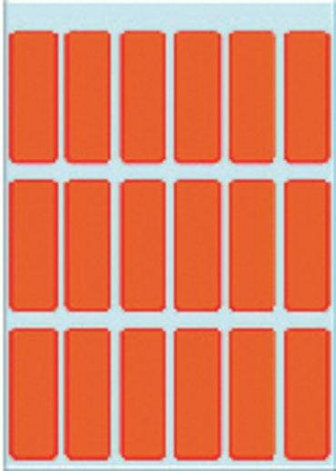 Etiket Herma 3652 12x34mm rood 90stuks