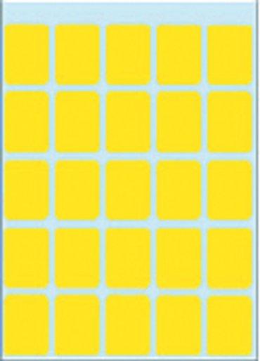Etiket Herma 3661 15x20mm geel 125stuks