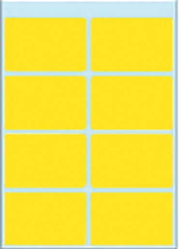Etiket Herma 3691 26x40mm geel 40stuks