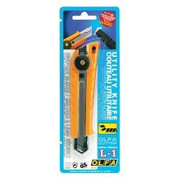 Snijmes Olfa L1 geel 18mm met metalen houder