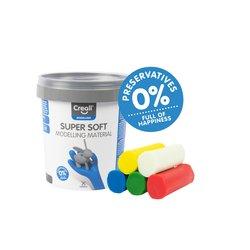Klei Creall supersoft rood/blauw/groen/geel/wit 450gr