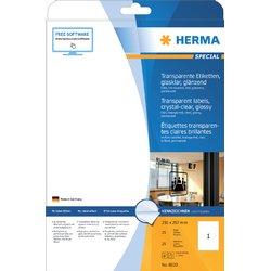 Etiket Herma 8020 210x297mm 25st transparant
