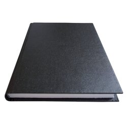 Schrift met harde kaft A5 400blz lijn zwart