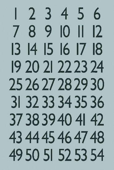 Etiket Herma 4134 13x12mm getallen 0-9 zwart op zilver