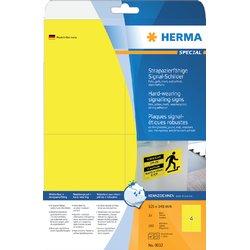 Etiket Herma 8032 105x148mm folie 100stuks geel