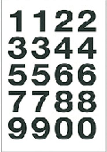 Etiket Herma 4136 20x18mm getallen 0-9 zwart op transparant