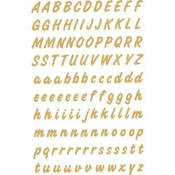 Etiket Herma 4152 8mm letters A-Z goud op transparant 238st.