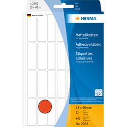 Etiket Herma 2362 13x40mm rood 896stuks