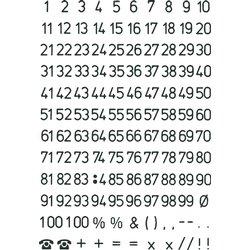 Etiket Herma 4155 5mm getallen zwart op transparant