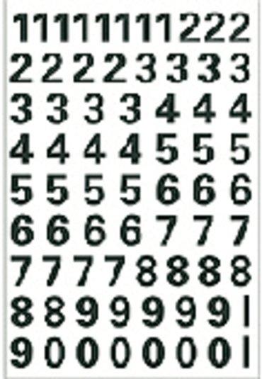 Etiket Herma 4159 10mm getallen 0-9 zwart