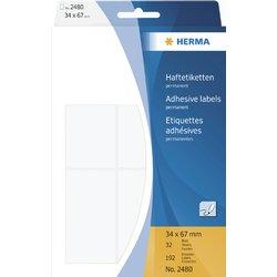 Etiket Herma 2480 34x67mm wit 192stuks