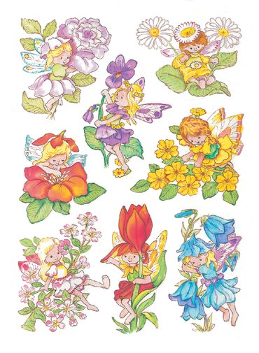 Etiket Herma bloemenelfen