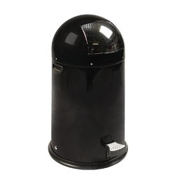 Afvalbak Kickcan metalen binnenbak 33liter zwart